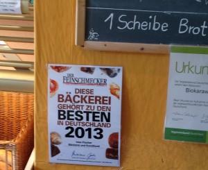 Auszeichnung als Bio-Bäcker