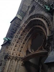 Bild vom Eingang mit Drachen