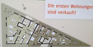 Grundriss von Wohnung im Trigonometrischen Wohnen
