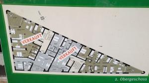 Grundriss von Apartmens im zweiten Stock des Trigonometrischen Wohnens