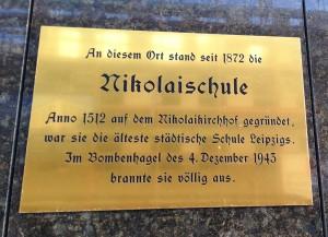 Gedenktafel für Nikolaischule